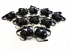 Lot of 10 Rugged Radios Black Headset - NASCAR Electronic Racing Communication