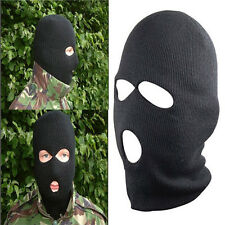Men's Wool SAS Style 3 Hole Fangle Balaclava Army Mask Outdoor Cool Hat Supplies