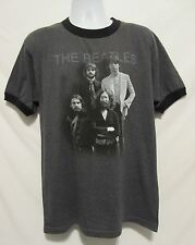 The Beatles Mens Large Apple Corps Graphic Gray T-Shirt Tee Music Casual Fan