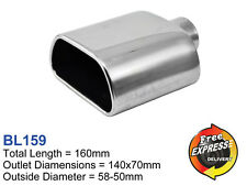 Exhaust tip Tailpipe Trim S/S Oval Trapezium Parallelogram for Subaru Legacy