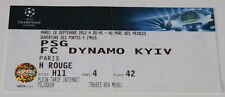 Ticket fo collectors CL PSG Paris Dynamo Kiev 2012 France Ukraine
