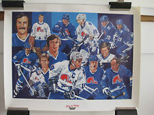 VINTAGE  QUEBEC NORDIQUE HOCKEY TEAM POSTER  EXTREMELY RARE