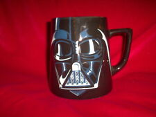 Disney STAR WARS DARTH VADER Black Soup Coffee Mug Tea Cup 3-D Face Big Ceramic