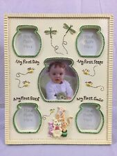 Disney Winnie Pooh Tigger Picture Frame First Bath Steps Smile Holds 5 Photos