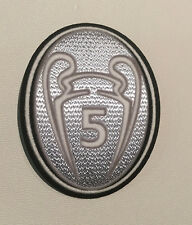 UEFA 5 Cup patch - Champions League - Barcelona, Bayern Munich, Liverpool- SLVR