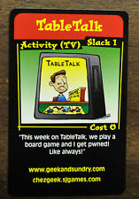 Chez Geek TableTalk  Promo Card SJ Games Kovalic Art Wil Wheaton TableTop