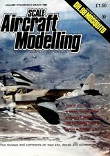 SCALE AIRCRAFT MODELLING MAGAZINE 1990 MAR DH.98 MOSQUITO, LOCKHEED T-33