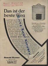 LEIPZIG, Prospekt 1938, Oswald Werner Spezialfabrik für Waschkessel