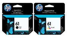 HP Genuine 61 Black + Color Set of 2 Ink Cartridges