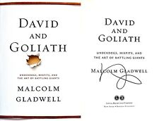 Malcolm Gladwell~SIGNED~David and Goliath~1st/1st HC + Photos!!