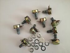 10pcs B10K Linear Potentiometer Pots 15mm Shaft with Nuts and Washers
