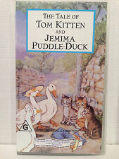 THE TALE OF TOM KITTEN AND JEMIMA PUDDLE-DUCK by BEATRIX POTTER ~ VHS VIDEO