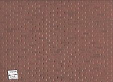 """Rough Brown Brick Sheet  - 1/12 scale Model Builders Supply MF107 - 14""""x24"""" 1pc"""