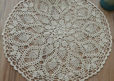 23'' Graceful Hand Lace Crochet Round Pineapple Doily Table Cloth Doilies Mat