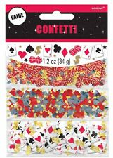 Las Vegas Casino Party Assorted Confetti 3 Pack