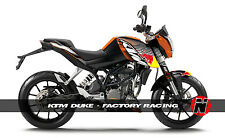 KTM Duke 200 / 125 Custom Sticker Graphic Decals Kits