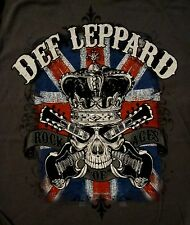 DEF LEPPARD cd lgo ROCK OF AGES Skull Official SHIRT XXL 2X New pyromania