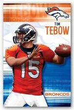 TIM TEBOW POSTER ~ THROW 22x34 NFL Denver Broncos Football 4930 Quarterback