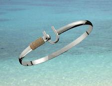 4mm .925 Sterling Silver & 14K Gold ST. CROIX Caribbean Hook Bracelet - Size 6.5