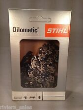 "GENUINE STIHL 63PM3 CHAINSAW CHAIN / BLADE FOR STIHL 009 12"" 1.3mm 3/8"" .050"""
