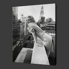 "MARILYN MONROE ICONIC MODERN WALL ART PICTURE CANVAS PRINT 20""x16"" FREE UK P&P"