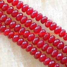 5x8mm Facted Red Ruby Gemstone Abacus Loose Beads 15''