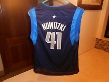 PRE-OWNED NBA DALLAS MAVERICKS DIRK NOWITZKI #41 ADIDAS JERSEY YOUTH SIZE SMALL