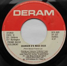 FRANCIS LAI A nous deux PIERRE BAROUH Ex to NM- CANADA ONLY!!! 1979 OST BOF 45