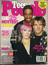 PINK SISQO JC TEEN PEOPLE 2001 THE HOTTEST STARS UNDER 25 BRITNEY SPEARS