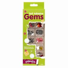 SELF ADHESIVE GEM PACK JEWELS/STONES-MIXED COLOUR/SHAPES- EMBELLISHMENTS  UK SAL