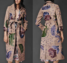 US 8 BURBERRY PRORSUM Hand Painted Wearable Art Leather Trench Coat IT42 $10,000