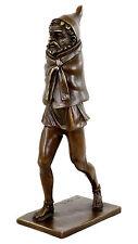Fruchtbarkeitsgott Priapus - Zweiteilige erotische Bronzefigur signiert M. Nick