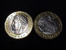 1997 ITALIA £ 1000 LIRE bimetallico FDC 1° tipo da rotolino zecca by Mint Roll