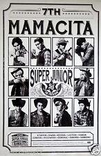 """SUPER JUNIOR """"MAMACITA"""" THAILAND PROMO POSTER - Group Dressed As Cowboys, K-Pop"""