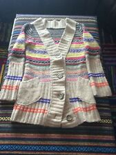 Free People southwest tribal pattern chunky knit sweater jacket cardigan SP