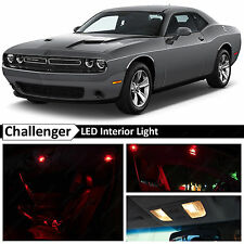 11x Red Interior LED Lights Package Kit 2015 Dodge Challenger