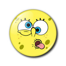 25mm Button Badge - Spongebob Squarepants Face - Tongue
