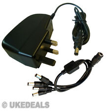 12V 2A CCTV POWER SUPPLY CHARGER PSU WITH 4 POWER SPLITTER JACK CABLE 5.5 2.5 MM
