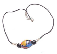 Hippy Black Inspired Multicolor Design Resin Bead Choker/necklace(Zx62)