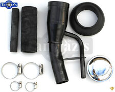 55-59 Chevy Pick Up Truck Fuel Gas Tank Filler Neck Cap Hose Clamp Grommet KIT