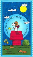 "Snoopy Flying Ace 100% cotton 43"" wide fabric by the panel 23.5""/24"""