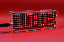 Dot Matrix Clock digital display electronic Alarm clock time led Temperature  R