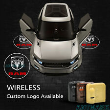 Wireless Car Door Step Led Laser Projector Logo Ghost Shadow Light For Dodge Ram