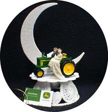 Country Western John DEERE Tractor Wedding Cake Topper Farmer Barn Theme