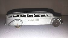 "Vintage 1930s 40s Jumbo 6"" Tootsietoy Cast Metal Toy Car Greyhound Bus"