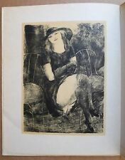 Curiosa Carco L'AMOUR VÉNAL 12 lithographies de Luc-Albert Moreau 1/15 sur Japon
