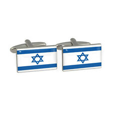 State of Israel Flag Cufflinks Gift Boxed Israeli Degel Yisrael Magen David Star