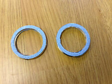 EXHAUST GASKET SET HONDA XR650 L XR650 R Set of 2 New Fibre Gaskets