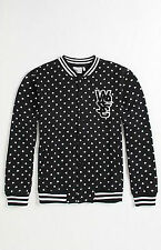 BRAND NEW WESC MENS GUYS VARSITY JACKET FLEECE LINED SWEATSHIRT COAT TOP SZ XL