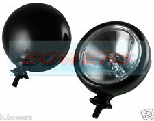 "PAIR OF (x2) 5"" BMW MINI & CLASSIC CAR BLACK SPOT/DRIVING LAMPS/LIGHTS MAXTEL"